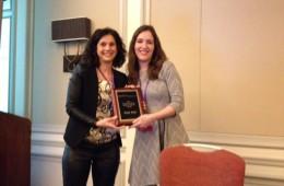 Dr. Rosen Presenting Katy Bois with the 'Sandra Leiblum Best Student Paper Award'
