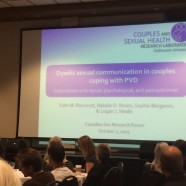 Kate Rancourt presenting her work at the Canadian Sex Research Forum's Annual Meeting, 2015 in Kelowna, BC