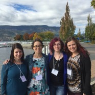 Sarah Vannier, Kate Rancourt, Gillian Boudreau, and Maria Glowacka pose on the Kelowna waterfront following the conclusion of the Canadian Sex Research Forum's Annual Meeting, 2015.
