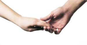 Image of two hands holding