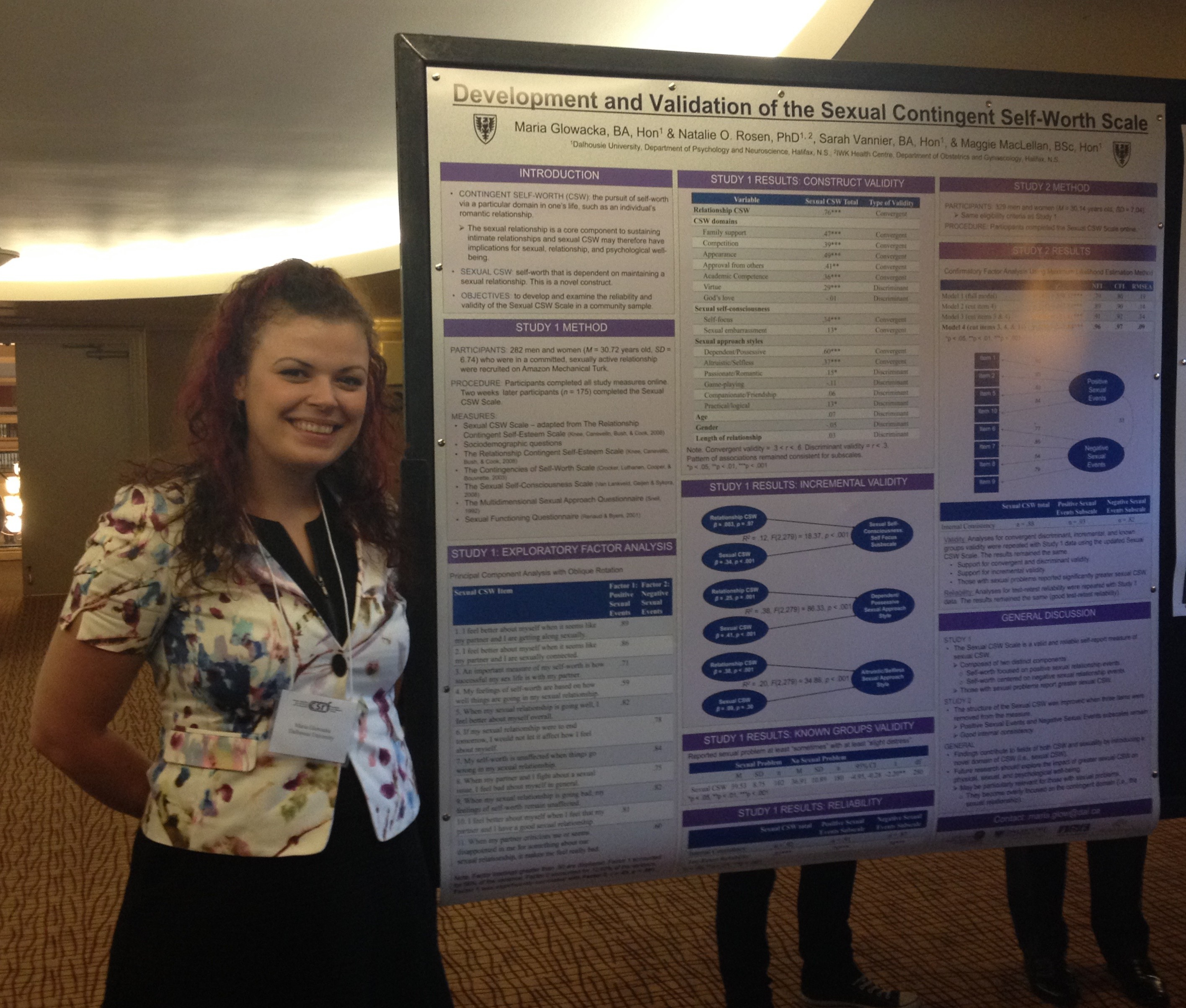 Maria Glowacka with the Poster She Presented at CSRF's Annual Meeting 2015