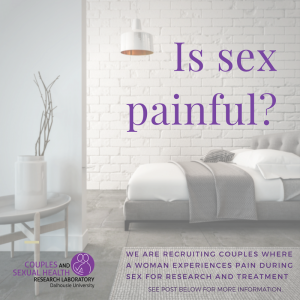 Couples where a woman suffers from pain during sexual intercours