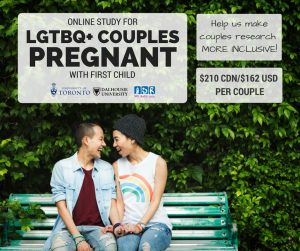 LGTBQ+ couples pregnant with first child image