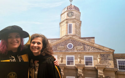Doctor Maria Glowacka poses with Doctor Rosen, her Supervisor, on Convocation Day